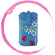 LAVISHY Adora collection wholesale vegan applique phone pouches to gift shop, clothing & fashion accessories boutique, book store, souvenir shops in Canada, USA & worldwide.
