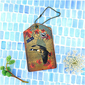 LAVISHY Canada collection vegan unisex luggage tags