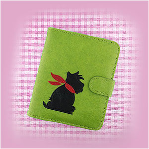 LAVISHY Adora collection vegan applique passport wallets