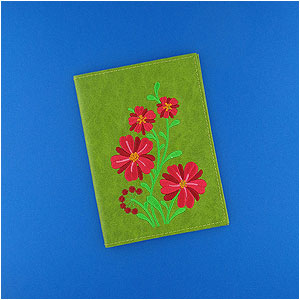 LAVISHY Elma collection vegan embroidered passport covers